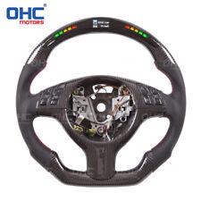 LED Performance Steering Wheel for BMW E46 / M3 Carbon Fiber + Carbon fiber trim