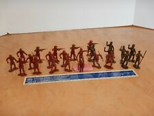 LOT OF 24 MARX REISSUE JUNGLE JIM, DAKTARI  PLAY SET FIGURES