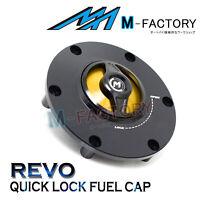 Gold REVO Quick Lock Petrol Fuel Gas Cap Fit MV Agusta Dragster 800/RR 14-17 18