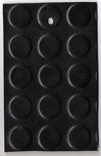 Passatoia/pavimento in GOMMA bolli NERO Uso industriale sp. 3mm taglio € 21,75mq