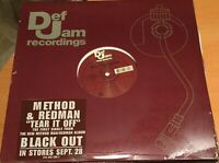 """METHOD & REDMAN-TEAR IT OFF-12"""" SINGLE from BLACK OUT-DEF JAM RECORDS-SEALED"""