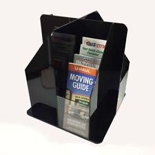 16Pocket Rotating Acrylic Literature Holder Rack Brochure Organizer Display Rack