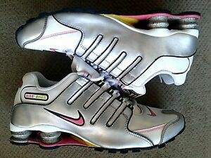 Nike Shox NZ 366571-161 Running Shoes White Silver Pink Womens Size 10