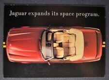1991 Jaguar XJS Convertible Postcard Brochure Excellent Original 91