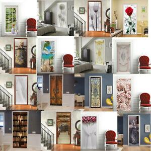 3D Door Mural Door Office Art Door Stickers for Interior Doors House Decoration