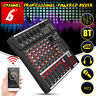 6 Channel USB Stereo Sound Mixer Audio Live bluetooth Console Professional USB