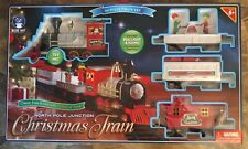 Animated Light Sound Blue Hat North Pole Junction 34 Piece Christmas Train Set