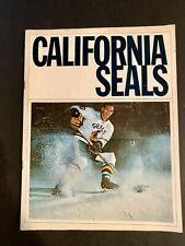 New listing Vintage 1966-7 CALIFORNIA SEALS (Today's San Jose Sharks) SEASON PROGRAM.