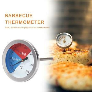Barbecue BBQ Smoker Grill Stainless Steel Thermometer Temperature Gauge 100-300℉