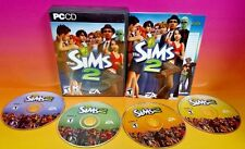 Sims 2 (PC, 2004) PC Game Complete with Key Code on Manual + All 4 Discs!