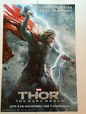 THOR THE DARK WORLD movie poster CHRIS HEMSWORTH poster - 13 x 20 inches (THOR)