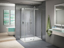 "FLEURCO 57-60"" x 75"" x 32"" APOLLO FRAMELESS SLIDING SHOWER DOOR + RETURN PANEL"