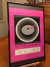 "Big 11X17 Framed Queen ""Jazz"" & Bicycle Race Lp Album Cd Promo Ad w/ Tour Dates!"