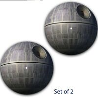 "Set of 2 Death Star Galactic Slipmat Turntable 12"" LP Scratch Pad Slip Mat DJ x2"