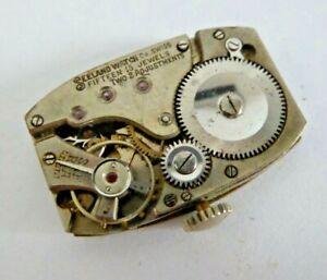 Vintage Seeland Watches Hand Winding Mechanical Tank Wristwatch Movement
