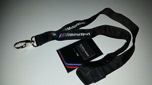 Edel bedrucktes, ORIGINAL 2021 BMW Motorsport Schlüsselband NEU und UNBENUTZT