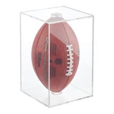NEW BallQube Football Holder Sports Memorabilia Display Case Box