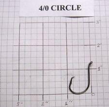 100 4/0 Circle Octopus Fishing Hooks black nickel wholesale / bulk fishing hooks