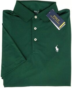Polo Ralph Lauren Green Short Sleeve Classic Fit Performance Shirt Therm NEW $98