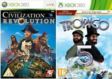 Sid Meiers Civilization Revolution & tropico  5 limited edition  xbox 360  pal