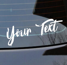 Custom text words font curved style vinyl cut car boat sticker at 320 x70 mm 001