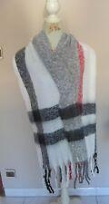 2636d612d49 Echarpe XXL motif tartan( ecossais) homme femme blanc 49 X 186 cm de