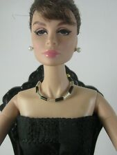 Silver black Necklace for Barbie,Poppy Parker,Fashion Royalty similar