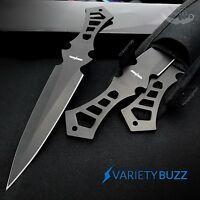 "3 PC BLACK THROWING KNIFE SET Tactical Hunting Ninja Combat 7.5"" Kunai w/ SHEATH"
