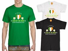 Luck of the Irish Green T Shirt St Patricks Day TShirt Ireland T-Shirt Flag
