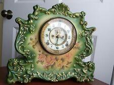 ANSONIA Recluse Open Escapement Porcelain Mantle Clock pat. 1881.