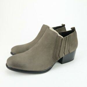 Isola DEVEN Womens Steel Gray Leather Ankle Boots Bootie Slip On Shoes Size 6.5