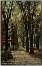 1910s Waterville, Maine Postcard Chapel Walk & South Chapel Hall View / Leighton