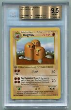 1999 Pokemon 1st Edition Base Set Shadowless Dugtrio 19/102 BGS 9.5 GEM MINT