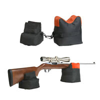 Portable Shooting Front Rear Bench Rest Bag Rifle Target Stand for Hunting Gun