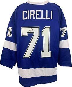Anthony Cirelli autographed signed jersey NHL Tampa Bay Lightning PSA COA