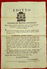 AMG30-RESTAURAZIONE, AMNISTIA PER I DETENUTI, EDITTO, GIACOMO GIUSTINIANI, 1815