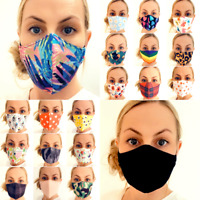 Face Mask Reusable Washable Protective Breathable Covering Cotton Adults Kids