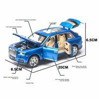 1:24 Rolls Royce Cullinan Alloy Diecast Car Model Sound Light Toys Gift 3 Colors