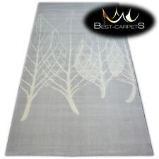 TRENDY Thick Carpets STYLISH MODERN RUG 'SCANDI' LEAVES grey CHEAP Best-Carpets