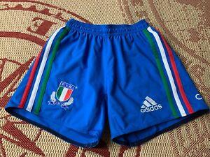 ITALY NATIONAL team 2014 2015 RARE RUGBY SHORTS ADIDAS ORIGINAL SIZE M MEDIUM
