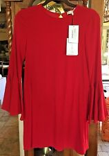 ALEXIS DIANNE RED BELL SLEEVE DRESS NWT