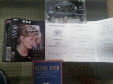 Diana Princess of Wales 1961-1997 Funeral BBC Cassette Elton John Candle In Wind