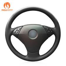 Black Leather Steering Wheel Cover for BMW 530 523 523Li 525 520Li 535 545i E60
