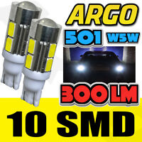 501 10 LED SMD SIDE INDICATOR BULBS WHITE XENON T10 W5W 194 HID WEDGE LAMP LIGHT