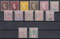 C2930/ BRITISH ST VINCENT – VICTORIA – 1892 / 1899 MH CLASSIC LOT – CV 165 $
