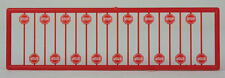 Tichy Train Group 2612 - Modern Stop Sign Red 18pcs - N Scale