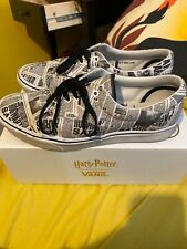 Vans X Harry Potter Daily Prophet trainers with comfy Cush insoles Size 10