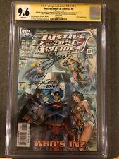 JUSTICE LEAGUE OF AMERICA #0 CGC 9.6 SIGNED 7x CAMPBELL 1:10 VARIANT DC