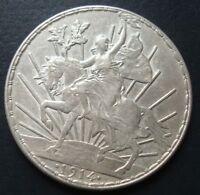1914 MEXICO $1 peso silver horse beautiful coin please see the coin RARE