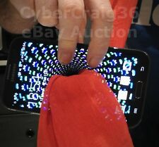 RED SILK HANKY THRU BORROWED PHONE DYNAMO SCARF THROUGH MOBILE COOL MAGIC TRICK